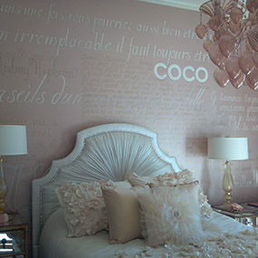 11 x 16' wall of French Verbiage for child's room, Lost Canyon, Scottsdale, AZ